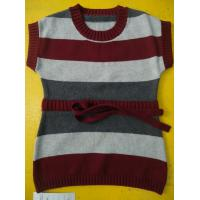 100 Cotton Knitted Kids Pullover Sweater , Crew Neck Girls Winter Sweater Manufactures