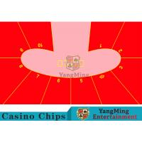 10P Pod Shape Red Color Dice Table Layout , Custom Layout Of Roulette Table  Manufactures