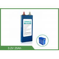4000 Cycles 3.2 V Lifepo4 Lithium Rechargeable Battery 25Ah For Automobiles Manufactures