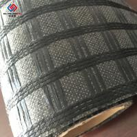50 Kn - 100 Kn Bitumen Coated Biaxial Fiberglass Geogrid Stitched Nonwoven Geotextile for Asphalt Manufactures