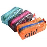 Orange / Green Household Storage Bags With Nylon Zipper For Gadget Accessories Manufactures