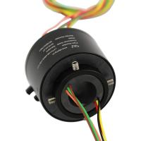 China Big Bore Through Hole Slip Ring Multiple Contacts IP54 Protection For Signal Transmission on sale