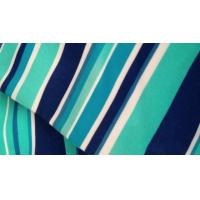 China Multi Colored Plain Horizontal Striped Fabric , Modern Polyester Curtain Fabric on sale