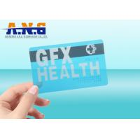 CR80 Size Clear transparent business card RFID with black magnetic stripe Manufactures