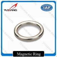 China D20*D10*2mm NdFeB Ring Magnet Silver Color N42H Coating Zn Direction Of Texture on sale