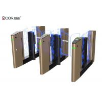 China Multiple color option speed gate with servo motor sine wave control technology on sale