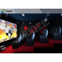 Red Motion Chairs 5D Theater System , 5D Cinema Simulator For Shopping Mall Manufactures