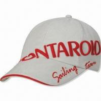Baseball Cap with 3-D Embroidery from Peak to Body, Made of 100% Cotton Twill, Metal Closure at Back Manufactures