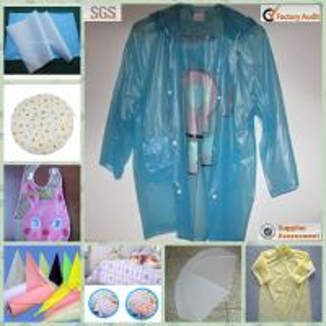 PE Waterproof Film Used In Raincoat. Shower Curtain, Umbralla Manufactures