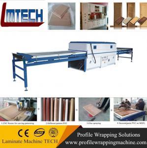 high gloss pvc press machine double table vacuum membrane press machine Manufactures