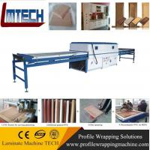China pvc sliding wardrobe doors Vacuum Membrane Press Machine with CE on sale