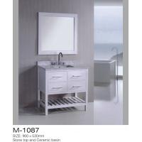 China Small Bathroom Vanity And Sink Combo Stone Countertop Shelf Including on sale