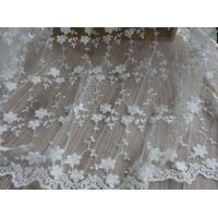 Embroidery Lace Cotton Flower Nylon Mesh Wedding Bridal Dress Fabric 49.21'' Width Manufactures