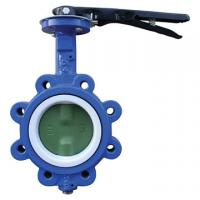 EPDM Seated Manual Lug Butterfly Valves Wafer Type For Ship Building / Textile Manufactures