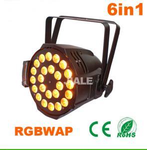 6in1 Led Par DJ Stage Lights / Dmx Led Par Light Indoor Par Can 24pcs 15w Rgbwa Uv Manufactures