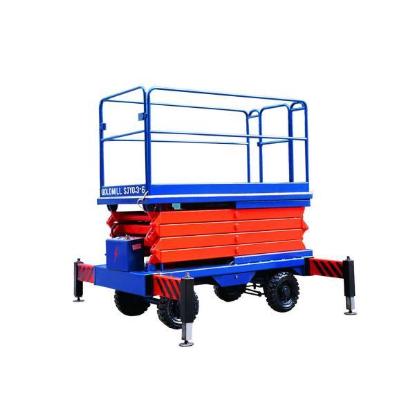 Quality Auto electric scissor lifting platform 220v 80w with 1m - 18m Lifting height for sale