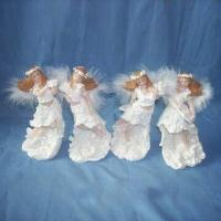 Christmas Design Polyresin Angel with Hand Painting, Customized Sizes are Welcome Manufactures