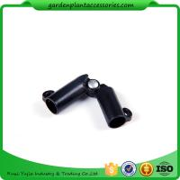 Sturdy Plastic Garden Stake Connectors Black Color Adjustable Angle 0 - 170 Degrees Manufactures