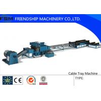 Side Rail Machine Cable Tray Roll Forming Equipment With Two Production Line Manufactures