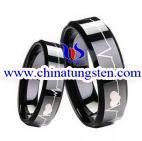 China Black Tungsten Wedding Ring on sale