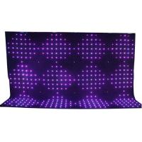 Quality 4x6m Rgb 3in1 Led Video Curtain Backdrop Decoration / Stage Fixture for sale