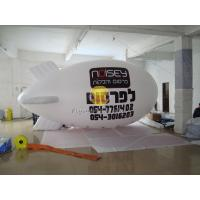 White Inflatable Ground Balloon Helium Zeppelin for Opening Event Meeting EN71 Standard Manufactures