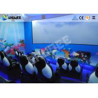 Mobile Seating Chairs 5D Cinema System Spray Air / Spray Water 5D Motion Simulator Manufactures