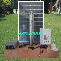 Solar Submersible Pump / Solar Fountain Pump With Battery Backup JS4-2.5-80 Manufactures