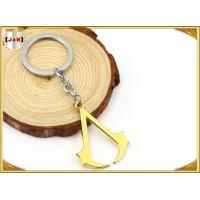 Hangbag Accessories Metal Key Ring , Sliver Or Golden Plating Bulk Keychain Rings Manufactures