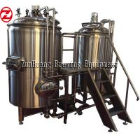 380V 300L Home Beer Brewing Equipment PLC Control Electric / Steam Heating Manufactures