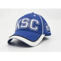 Men / Women Sports Cotton Baseball Caps Embroidery , Blue With White Under Bill Manufactures