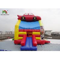 PVC Fireproof Commercial Inflatable Bouncers For Kids Jumping Car Houses Manufactures