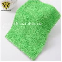 OEM Microfiber Dish Cloth Green Ultrasonic Trimming Coral Fleece 600gsm for sale