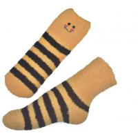 Yellow Smile pattern mens aloe socks Polyester plush therapy 19x13x8.5 cm Manufactures