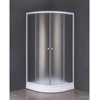 China 5mm Frost Tempered Glass Shower Cubicle with Quadrant Shower Tray on sale