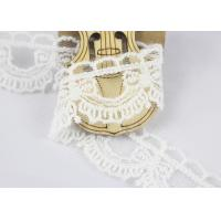 Guipure Cotton Lace Ribbon Water Soluble Antique Style White Color 2.6cm Width Manufactures