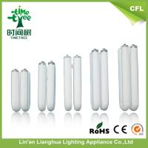 High Luminous 2700k-7000k White u Shaped Fluorescent Light Bulbs T3 Manufactures
