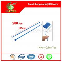Buy cheap 7.6x200mm UL 94V-2 material Self-Locking Type plastic nylon cable tie UAE from wholesalers