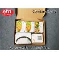 1360ml Volume Aluminium Foil Takeaway Food Containers 5 Compartments Various Size Manufactures