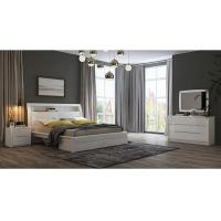 White High Gloss Bedroom Furniture / King Bed Headborad with Flap Door Manufactures
