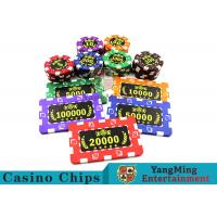 Buy cheap ABS Plastic Material Casino Poker Chips 75 * 45mm For Roullette Games from wholesalers