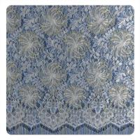 Multi color Chantilly Metallic Nylon Lace Fabric ,  Eyelash Lace Trim For Womens Dress Manufactures