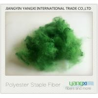 Verde Pino Dyed Recycled Polyester Fiber Good Color Fastness Easy To Spinning Manufactures