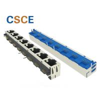 8 Port Ganged RJ45 Jack Connector , High Wearing Right Angle Ethernet Cable Manufactures
