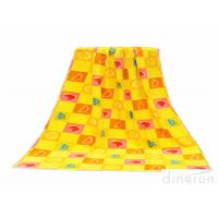 60*120cm Yellow Beach Towels , Personalized Pool Towels Eco Friendly