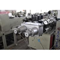 Quality High Output PVC Double Pipe Plastic Extrusion Equipment / Pipe Extruder Machine for sale