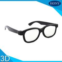 Plastic Circular Polarized 3D Glasses For Movies With Different Color Frame Manufactures