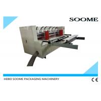 Vacuum Feeding Thin Blade Slitter Scorer Machine Automatic Creasing With Pre Creaser Manufactures