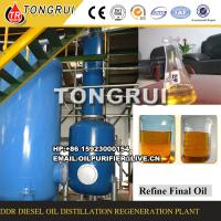 85%-90% Oil Yield Rate Waste Oil Refine To Diesel Oil Distillation Equipment Manufactures