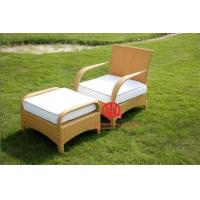 Leisure garden furniture rattan chair with ottoman Manufactures